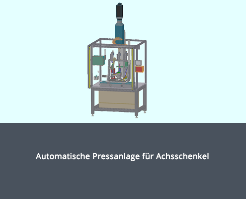 Automatische Pressanlage für Achsschenkel