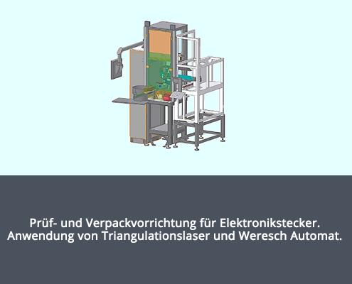 Prüf- und Verpackvorrichtung für Elektronikstecker